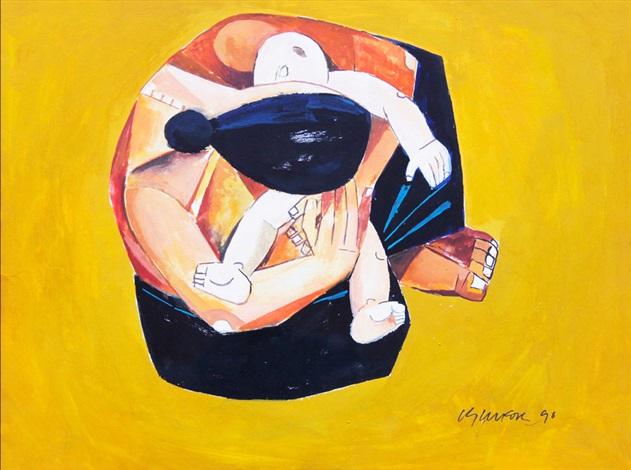Ang Kiukok - Mother and Child , 1990